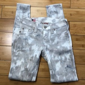 Incredible true religion acid wash camo jeans